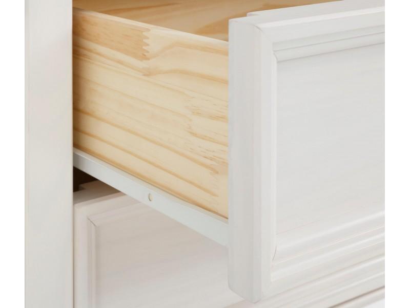 estante madeira maciça branco e marrom com 1 porta 2 gavetas nicho aberto com 1 prateleira / Athenas