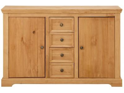 Balcão aparador buffet de madeira maciça rústico com acabamento em cera / Athenas