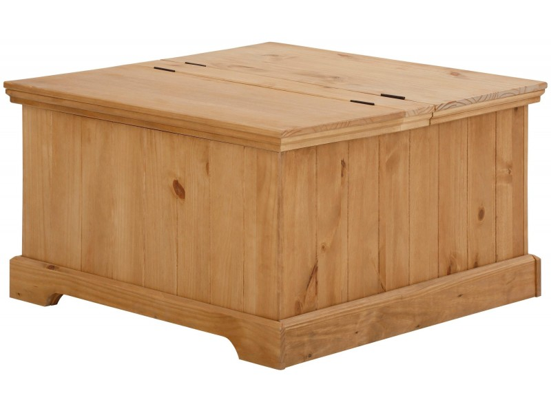 Baú rústico de madeira maciça mesa de centro / Athenas