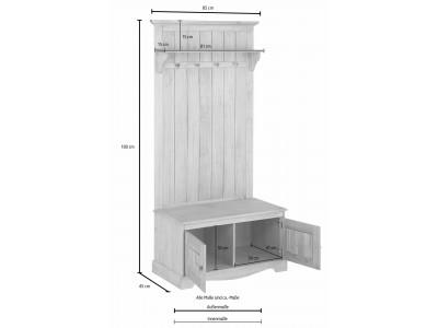 Banco e cabideiro de madeira / Melissa