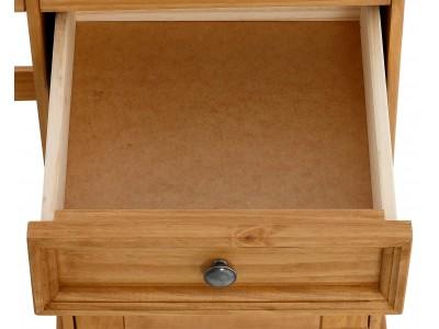 Balcão buffet de madeira com 4 portas e 2 gavetas em cera / Melissa