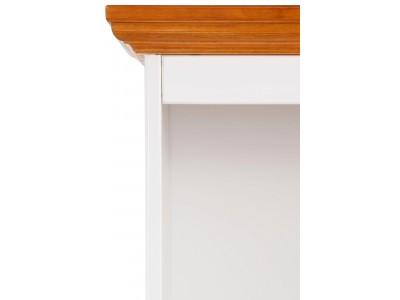 Estante baixa de madeira branco lavado e mel | Melissa