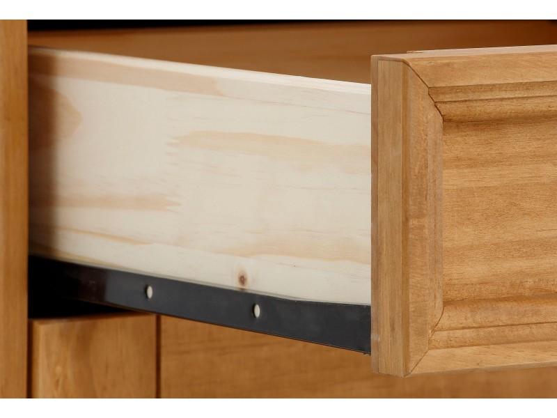 Escrivaninha de madeira com 2 portas e 2 gavetas em cera / Melissa