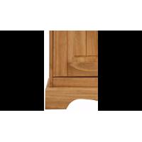 Vitrine cristaleira de madeira com acabamento em cera / Melissa