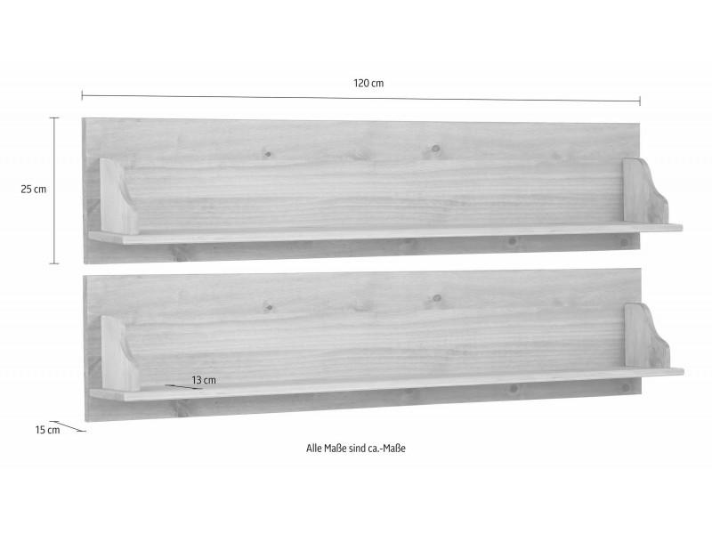 2 prateleira de madeira rustica 120Larg. x 25Alt. x 15Prof. cm / melissa