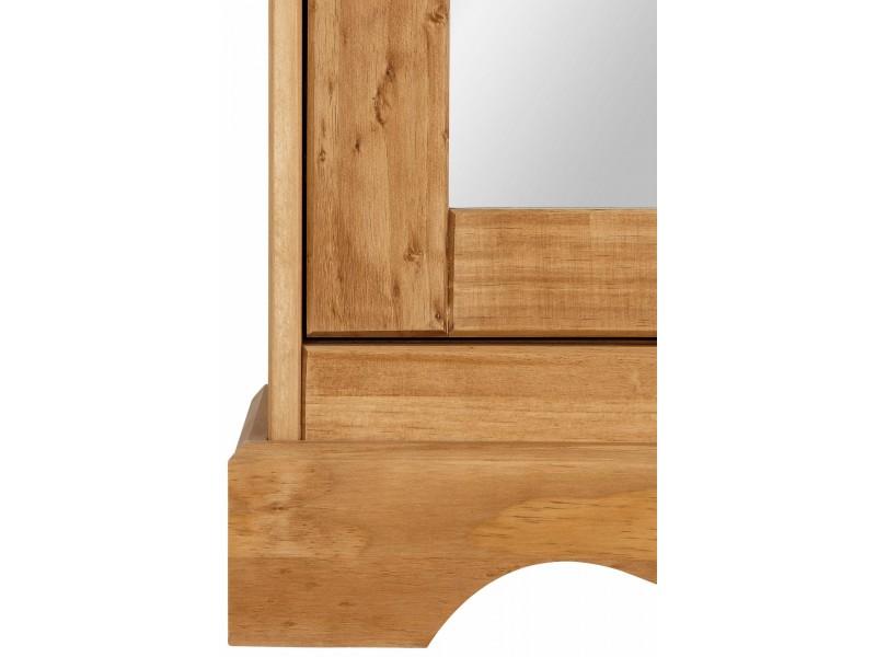 Sapateira de madeira  rustica com espelho  / Melissa