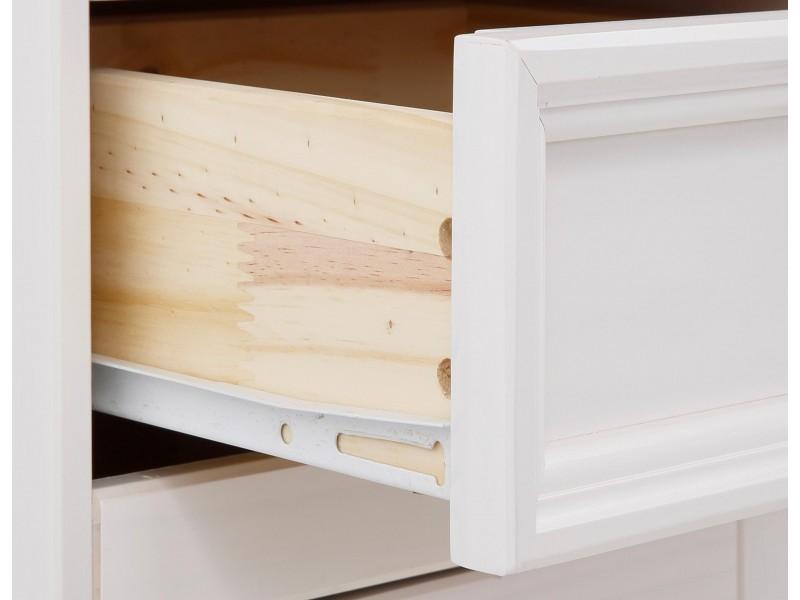 Vitrine cristaleira de madeira nas cores branco e mel  / Melissa