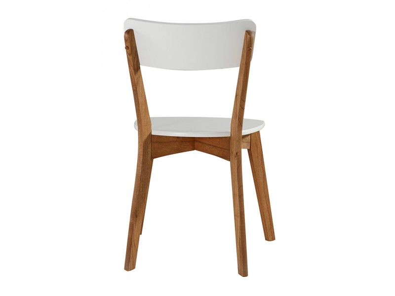 2 Cadeiras de madeira com assento e encosto em MDF amarelo | Scandian