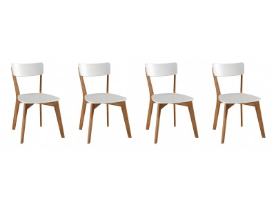 Scandian / 4 Cadeiras de Madeira com assento e encosto em MDF