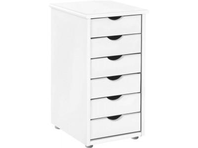 Gaveteiro de madeira branco para escritório ou home office / gava