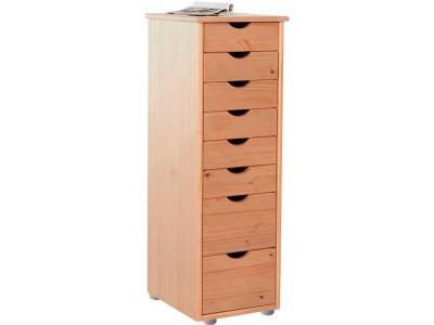 Gaveteiro de madeira com 8 gavetas para escritório / Gava