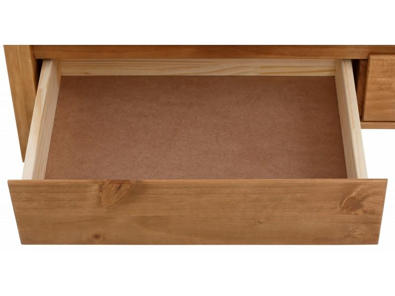 Mesa de centro rústica de madeira maciça em cera / Kubo