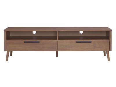 Rack de TV de madeira cor amendoado | Scandian