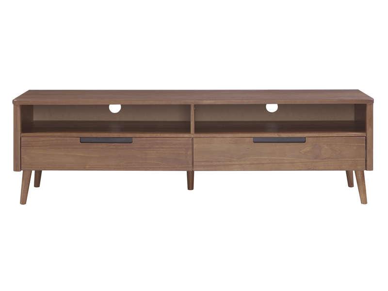 Rack de TV de madeira cor amendoado | Scandian