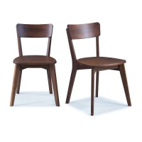 2 Cadeiras de madeira cor amendoado - Scandian