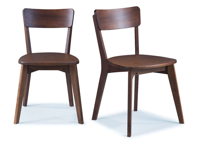2 Cadeiras de Madeira cor Amendoado / Scandian