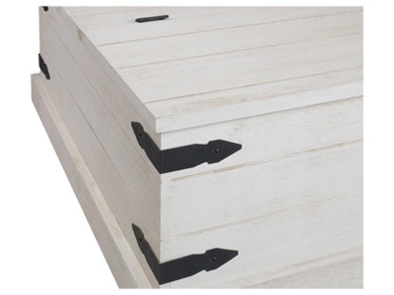 Baú de madeira rústica / Alpes