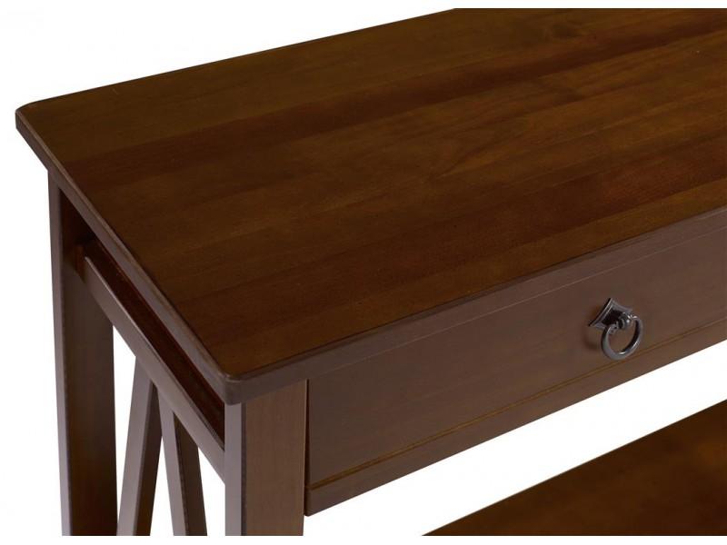 Aparador buffet de madeira maciça acabamento pinhão / titian