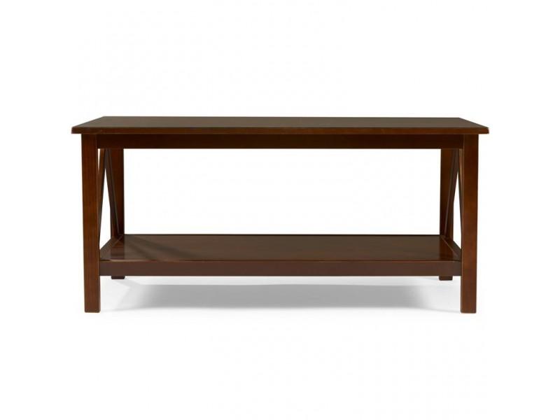 Mesa de centro de madeira maciça cor pinhão | titian