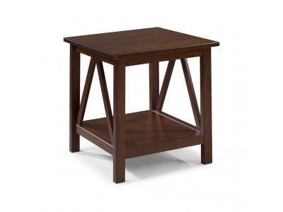 mesinha de canto de madeira maciça acabamento pinhão /titian