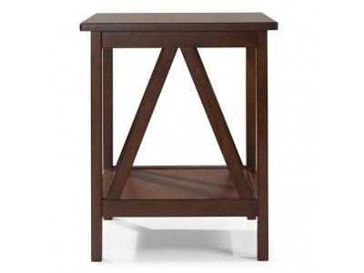 mesinha de canto de madeira maciça acabamento pinhão | titian
