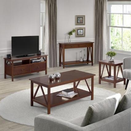 Veja abaixo a sala de estar e home office decorados com os móveis da linha titan