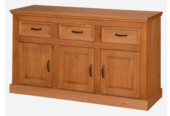 Balcão de madeira em cera - 3 portas e 3 gavetas   Engand