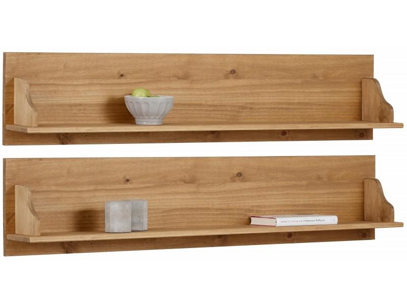 2 Prateleiras de madeira rústica   Melissa