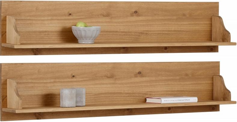 2 Prateleiras de madeira Rústica | Melissa